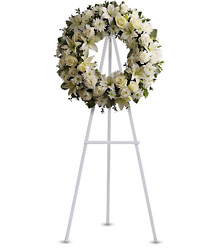 Serenity Wreath<br>Teleflora from Inglis Florist in Tucson, AZ